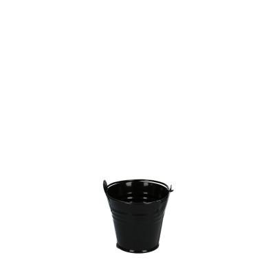 Zink Emmer d06*05cm zwart
