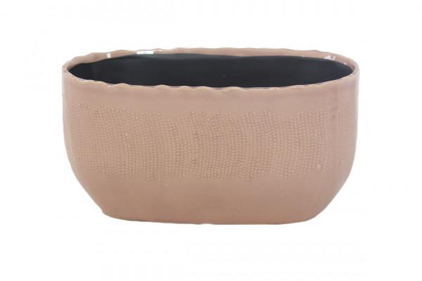 Ceramic Planter Amalfi Oval Pink L20W11,5H11,5