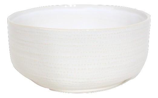 Keramik Pflanzer Vieste Rund Weiss D19,5H9