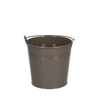 Zinc bucket d12.5*11.5cm sand
