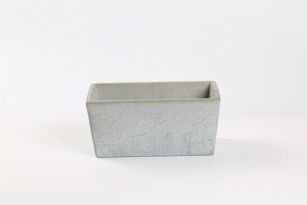 Cement Planter Rovigo Rectangle Grey L23W12H11