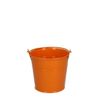 Zinc bucket d10*09cm orange