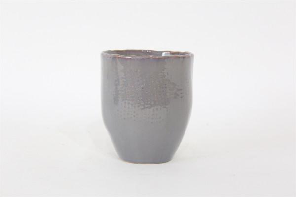 Keramik Topf VIANO Rund Grau/Rosa D11H12