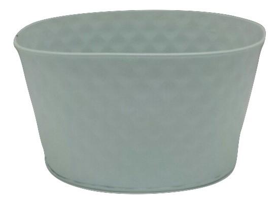 Zinc Planter Oval White D20H15