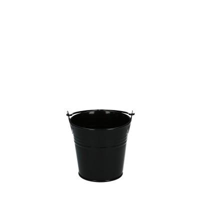 Zinc bucket d08*07cm black