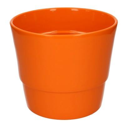 Keramiek pot kim d18*15cm orange