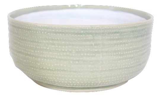 Ceramic Planter Vieste Round Light Green D19,5H9