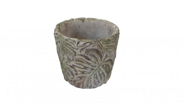 Cement Pot Blad Groen D12,5H11