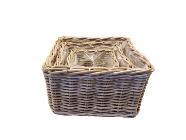Kubu Basket Planter Square .L42H25 S3