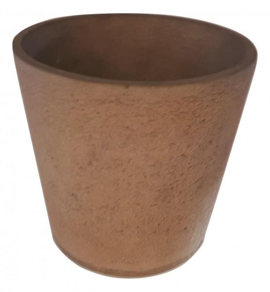 Zement Topf Rund Rovigo Rosa D23H20