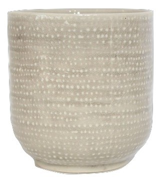 Keramik Topf Vieste Rund Grau D7H7