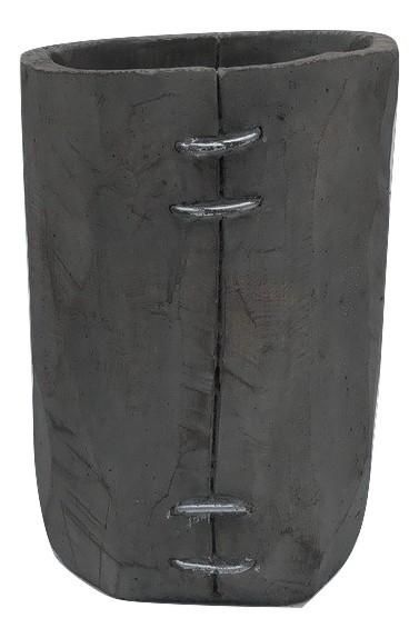 Zement Vase Padola Rund Grau D13,5H20