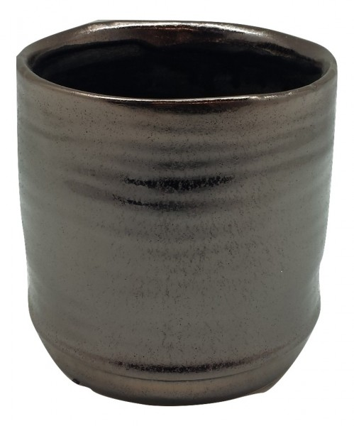 Keramik Topf Rotondi Rund Bronze D14H14