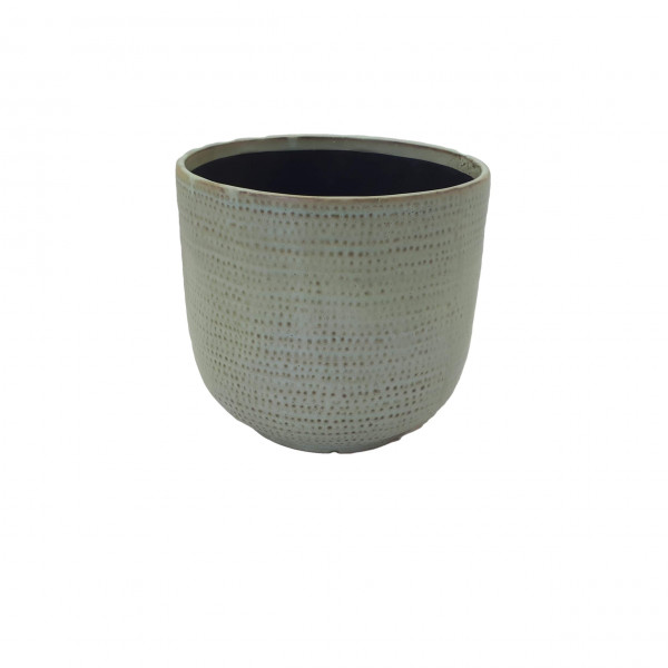 Ceramic Vase Alezio Round Rustique Pistache D18H17