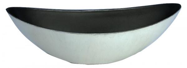 Melamine Oval High Matt White W/Black Wash L55W13H17
