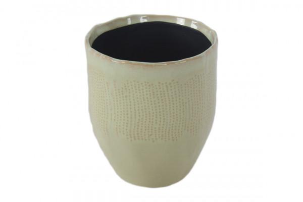 Ceramic Planter Amalfi Round Green D16H7