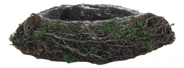 Salim Pflanzer Mit Moos Oval Natur / Grun L40W17H8 Stück