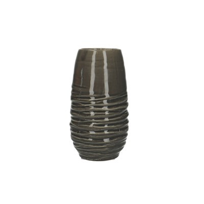 Ceramic Vase Breno Round Black/White D10.5H20