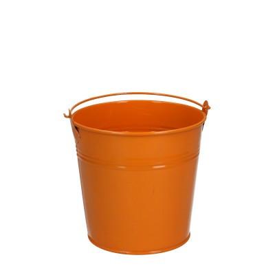 Zink Eimer d12.5*11.5cm orange