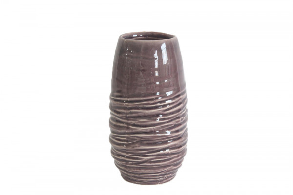 Ceramic Vase Breno Round Pink/White D10.5H20