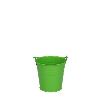 Zinc bucket d08*07cm green