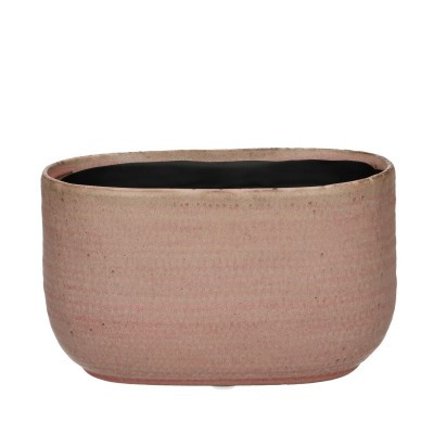 Ceramic Planter Alezio Oval Rustique Pink L20W10H11