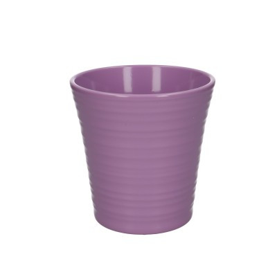 Phal.pot ribbed d13*13cm lilac