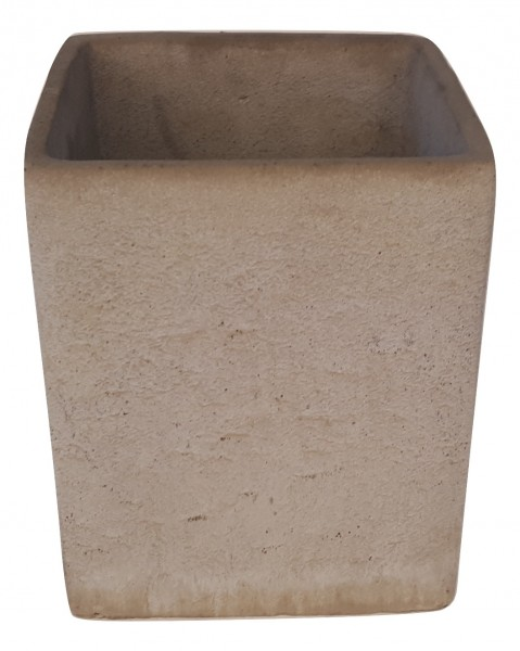 Cement Pot Rovigo Square Grey D15H18