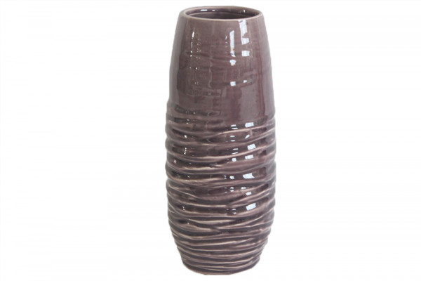 Ceramic Vase Breno Round Pink/White D11.5H28