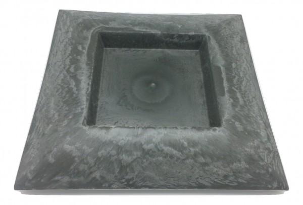 Melamine Grau Schale Viereck D40