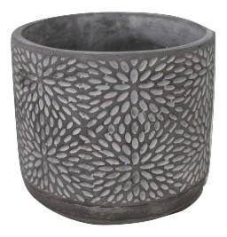 Cement Pot Termoli Round Grey D18H16