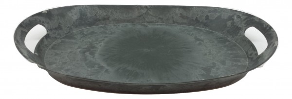 Melamine Tablett Oval Grau L45.5W31H6