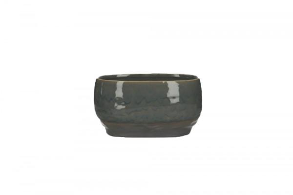 Ceramic Planter Dolo Oval Blue/Brown L20.5W12.5H11