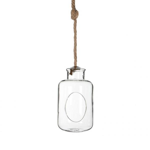 Glas Flasche Mit Seil D12H21