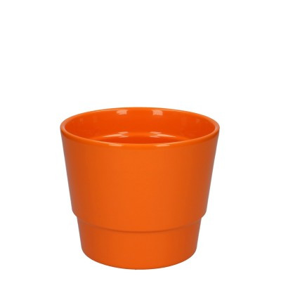 Keramiek pot kim d14.5*12cm orange