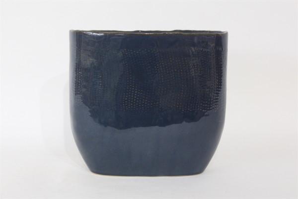 Ceramic Vase Viano Oval Blue W14L27H25