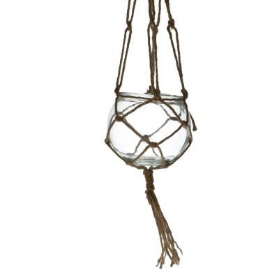 Hanging pot+jute d15*13cm