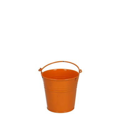 Zinc bucket d08*07cm orange