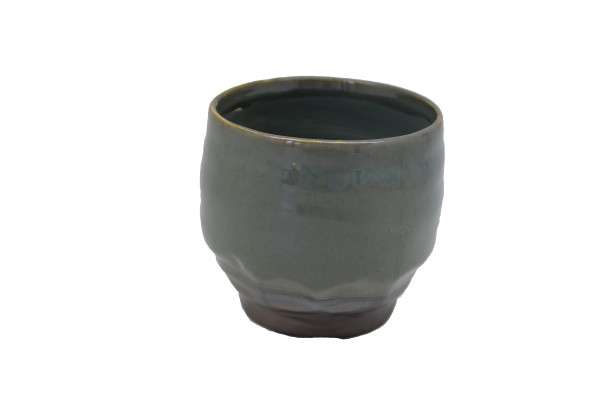 Ceramic Pot Dolo Round Blue/Brown D14.5H13