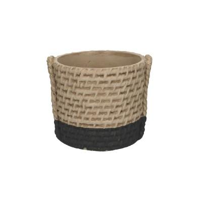 Locri Pot D11H10Cm Natural/Black