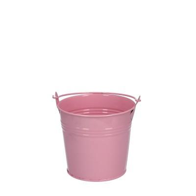 Zink Emmer d10*09cm roze
