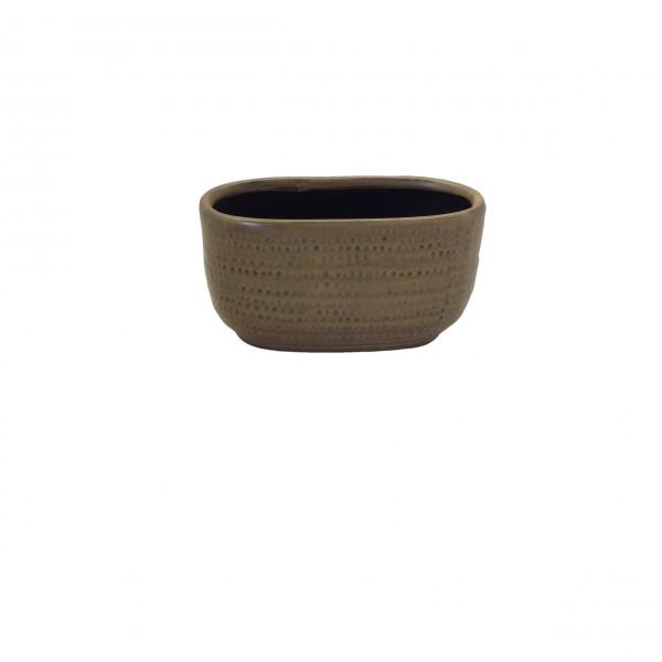 Ceramic Planter Alezio Oval Rustique Ochre L20W10H11