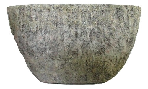 Cement Vase Funti Oval Green Antique L52W19,5H51