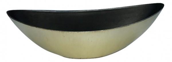 Melamine Planter Oval High Matt Champagne /Brown Wash L39W12H13