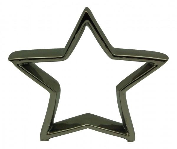 Keramik Offen Sterne Weiss H21 Stück