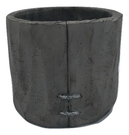 Cement Pot Padola Round Grey D17,5H15