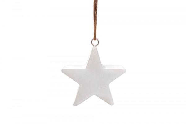 Wooden Hanger Star White L8W8