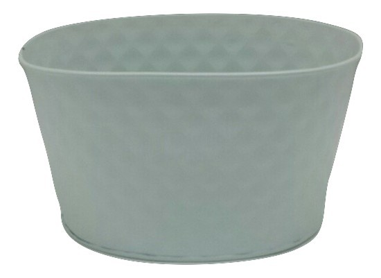Zinc Planter Oval White D14H10