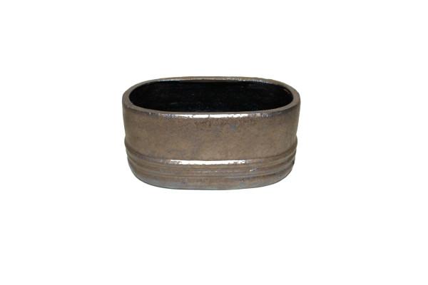 Ceramic Planter Noli D28/16.5*13cm Bronze