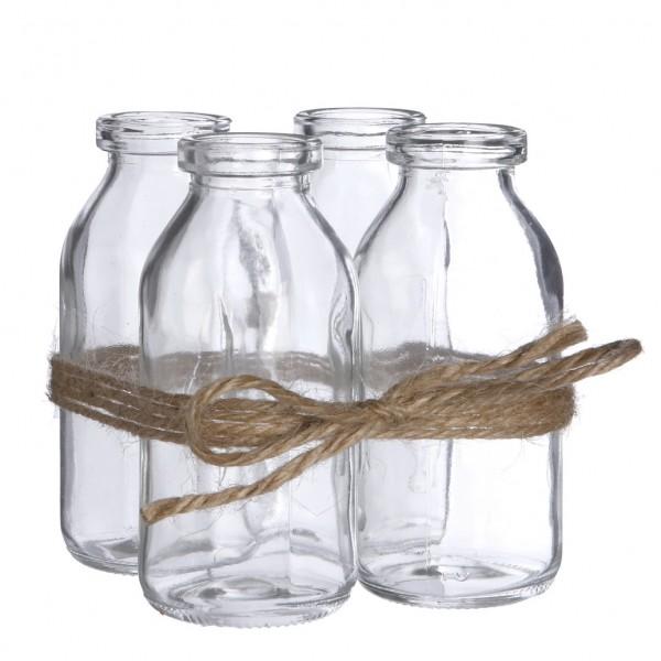 Glas Flasche Set4